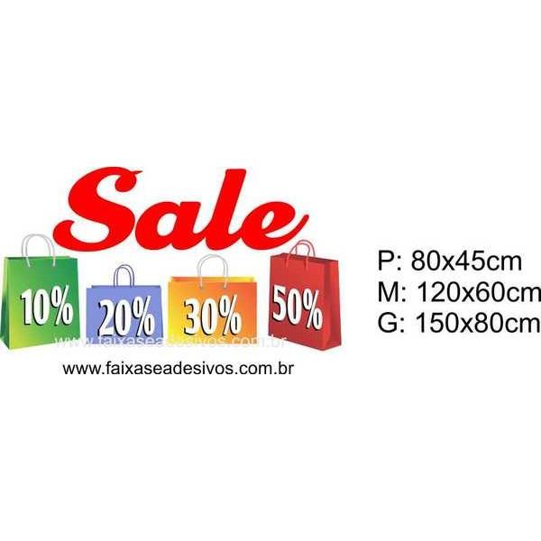 Adesivo Liquidação Sale Sacolas 14M (P-M-G) 1213  - FAC Signs Impressão Digital