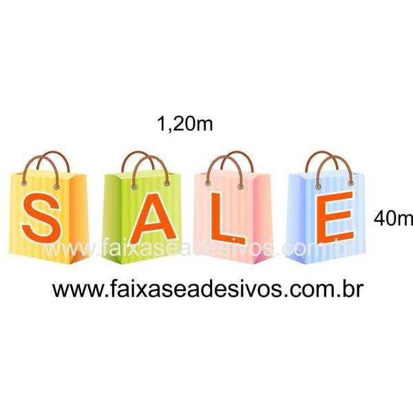 Adesivo Sacolas Sale 14N 1,20 x 0,40 - 1215  - Fac Signs