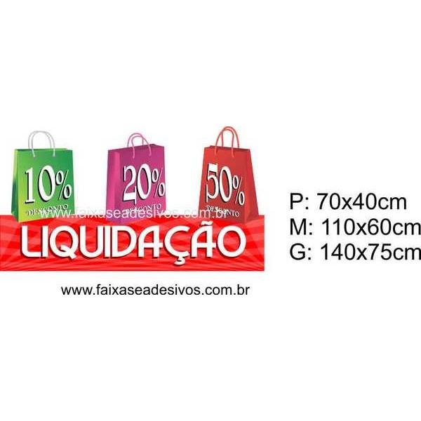 Adesivo Liquidação para Loja 14O (P-M-G)  - Fac Signs