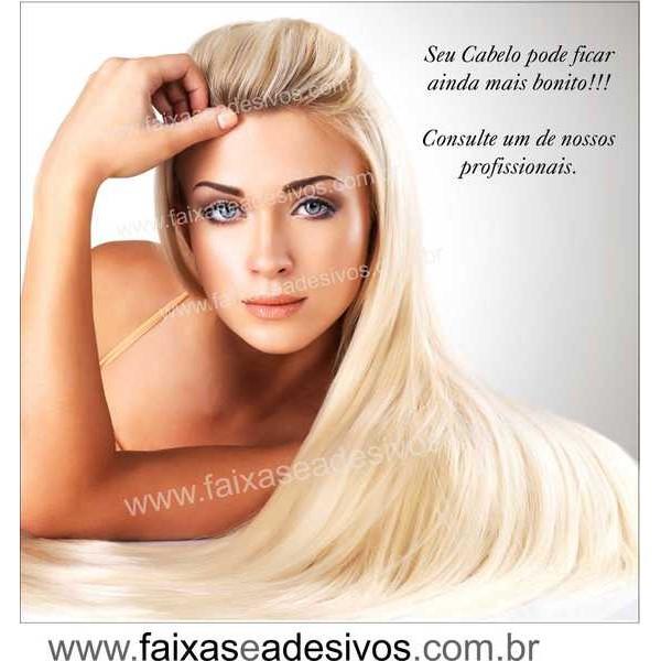 Adesivo Cabelo mais Bonito 1,00 x 1,00m 114E  - FAC Signs Impressão Digital