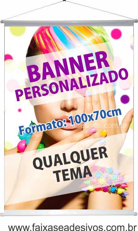 007B - Banner 100x70cm   - FAC Signs Impressão Digital