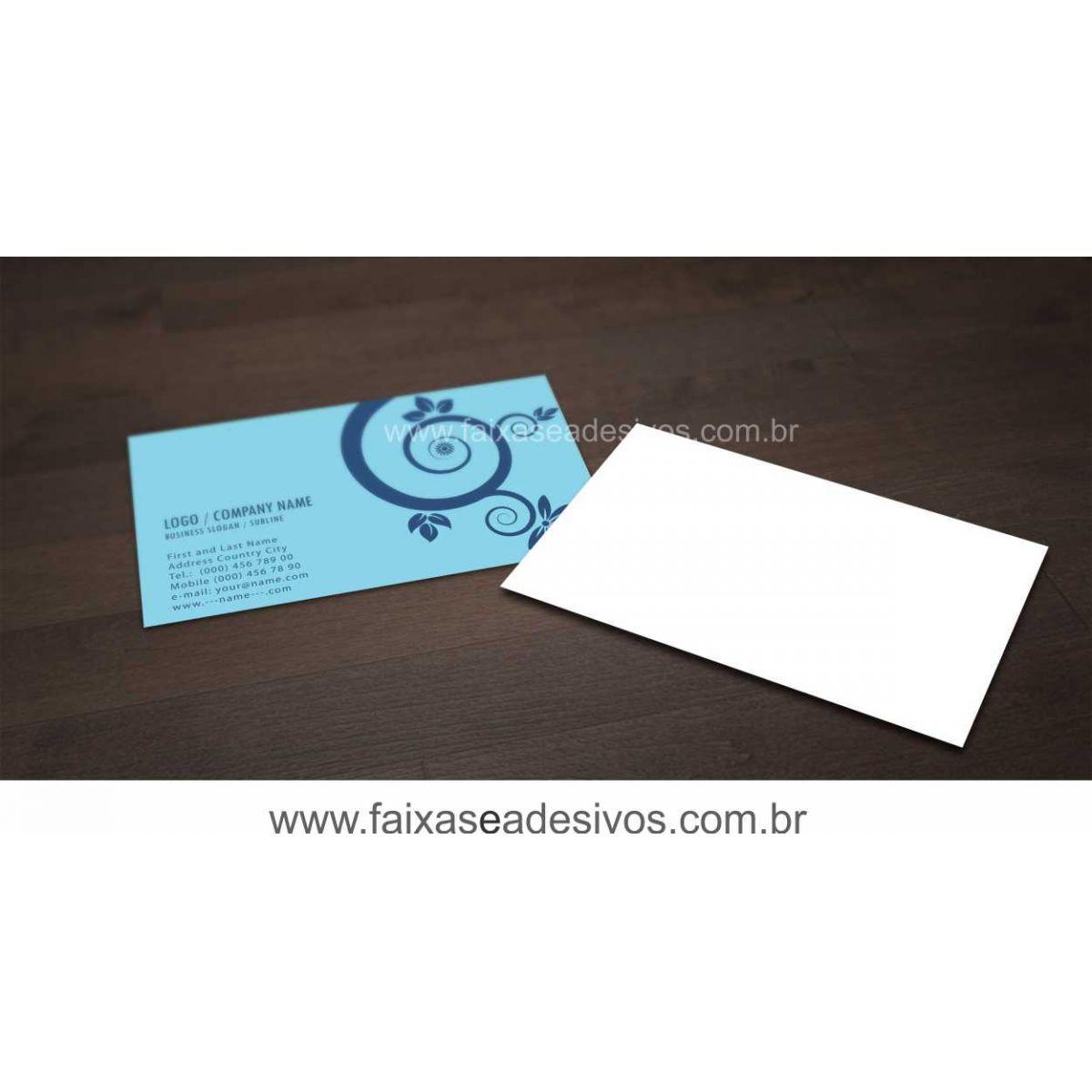 011G - Cartão de Visita 4x0 cor - Verniz UV Total FRENTE   - Fac Signs