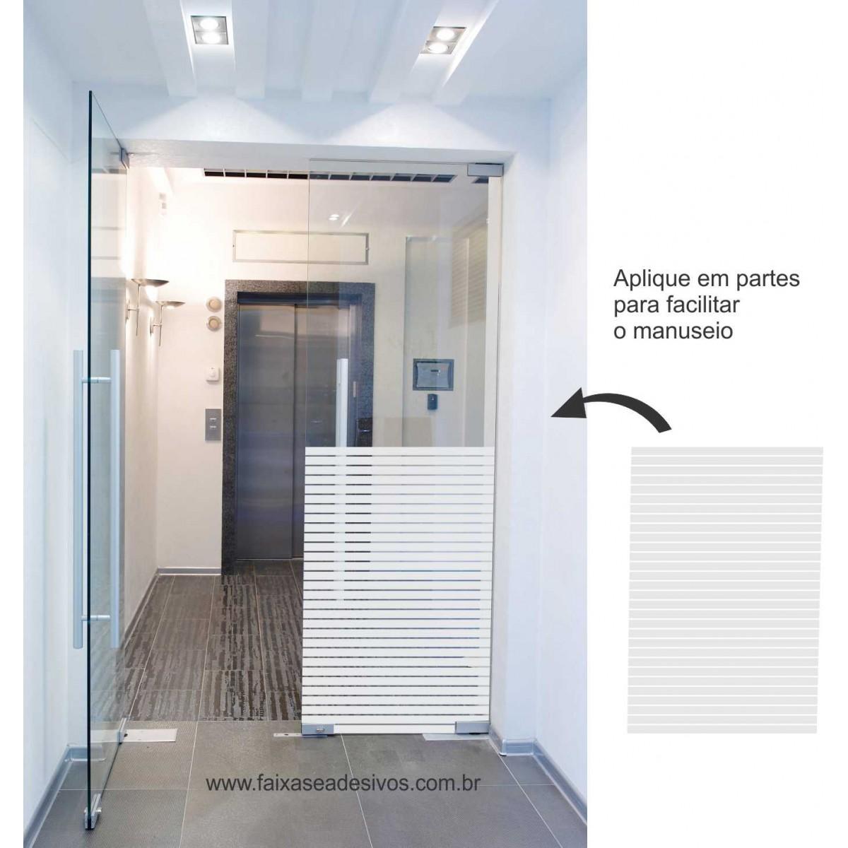 112 - Adesivo Persiana 2cm cada tira e vão de 0,3cm - 220x70cm - Escolha a cor  - FAC Signs Impressão Digital