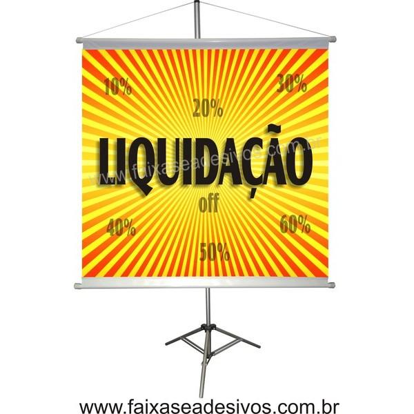 Banner Liquidação 70x70cm  - FAC Signs Impressão Digital