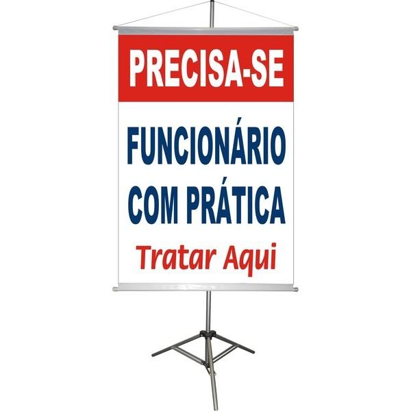 Banner Precisa-se 100x70cm  - FAC Signs Impressão Digital