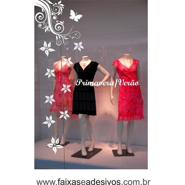 Adesivo de Vitrines Flores e Arabescos  - FAC Signs Impressão Digital