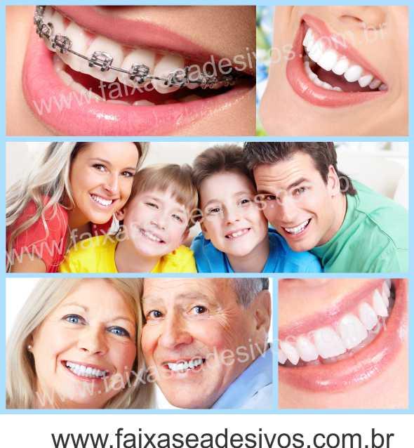 Fotos Decorativas Mosaico Sorriso 003 - Escolha Adesivo ou placa e tamanho  - FAC Signs Impressão Digital
