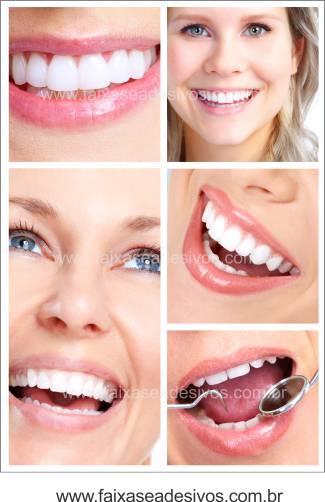 Fotos Decorativas Mosaico Sorriso 007 - Adesivo - Escolha o tipo e tamanho  - FAC Signs Impressão Digital