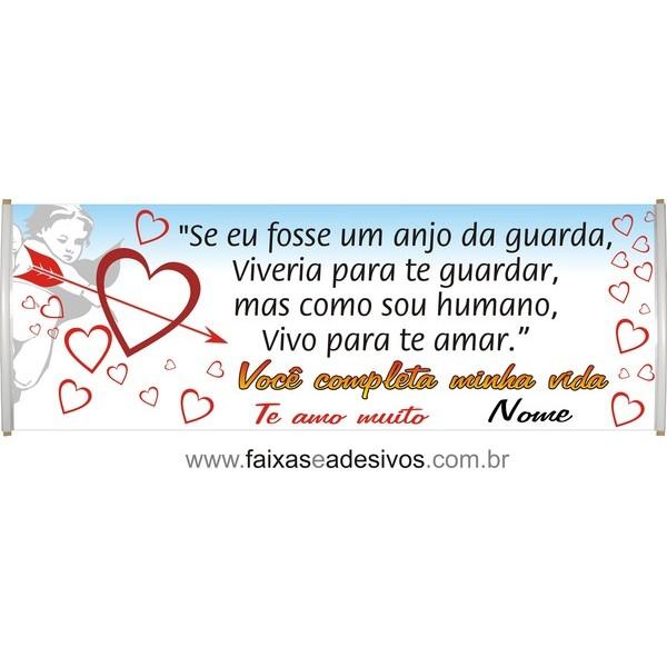 Faixa Mensagem de Amor 2,00 x 0,70m  - FAC Signs Impressão Digital