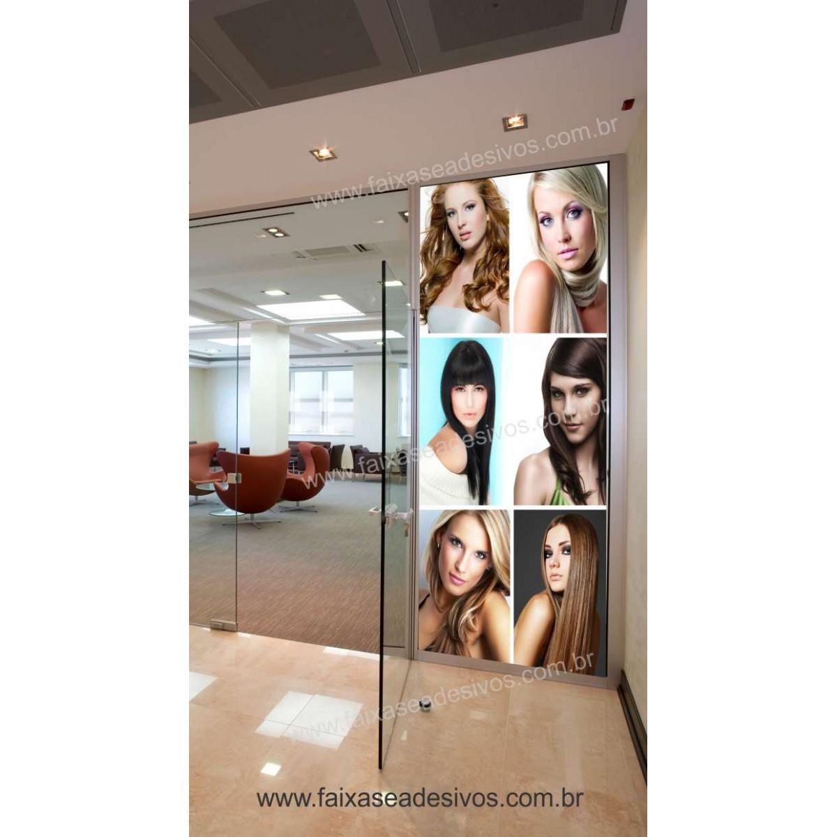 Fotos Decorativas Salão - Porta Cabelos P01 - Escolha o tipo de Adesivo  - Fac Signs
