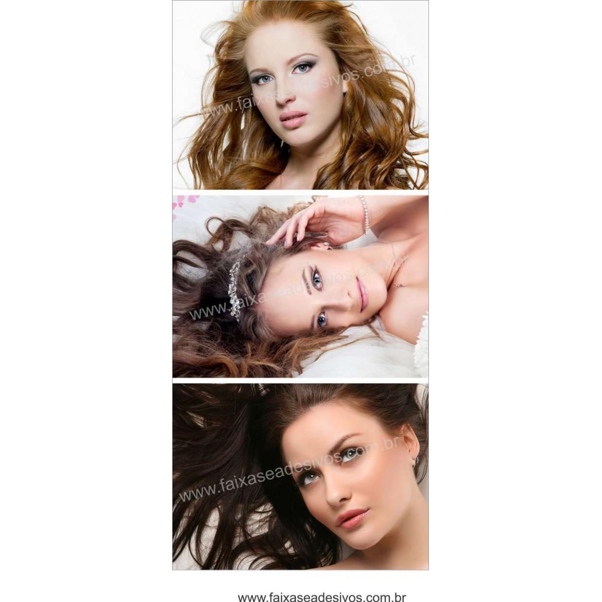 Fotos Decorativas Salão - Porta Cabelos P03 - Escolha o tipo de Adesivo  - Fac Signs