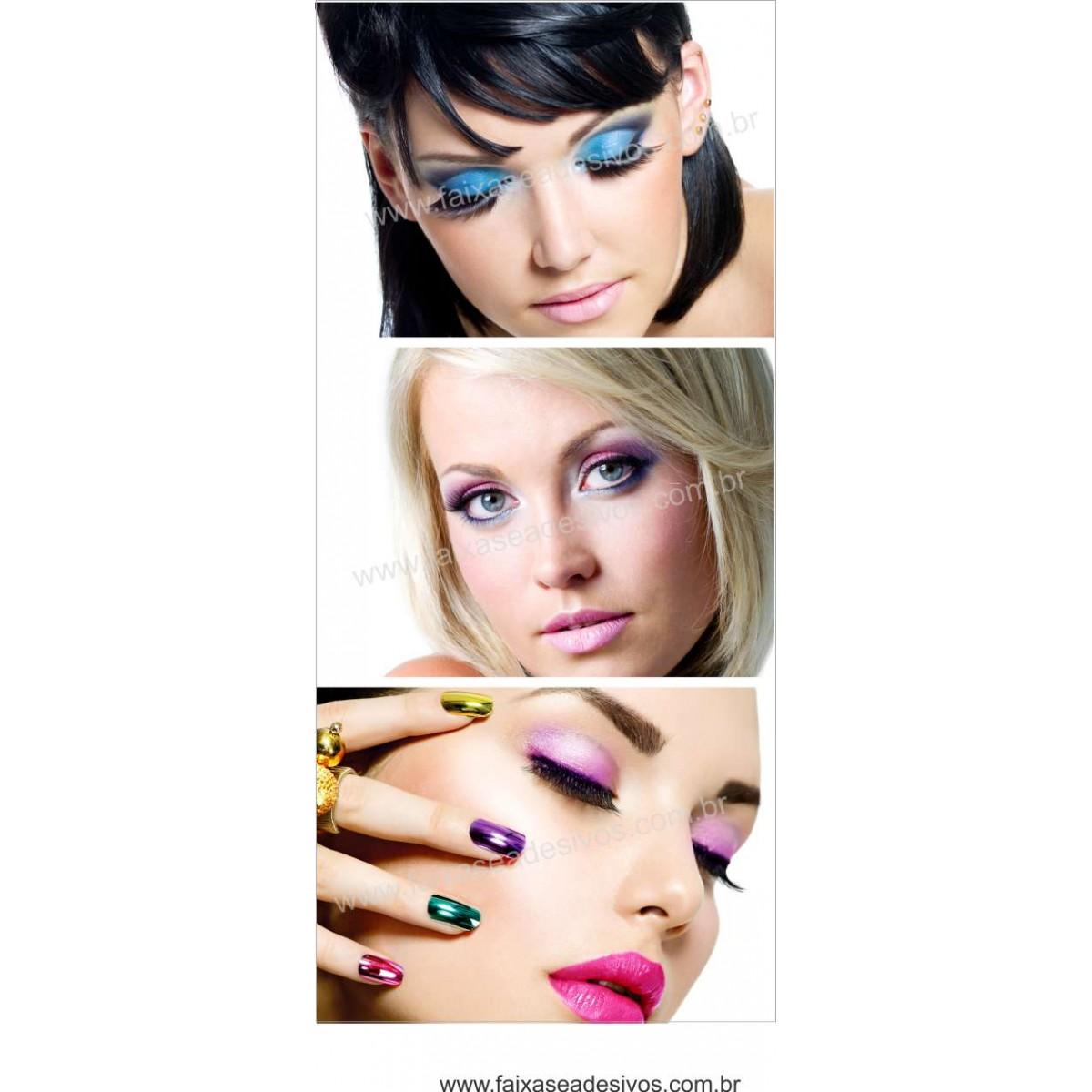 Fotos Decorativas Salão - Porta Cabelos P04 - Escolha o tipo de Adesivo  - Fac Signs