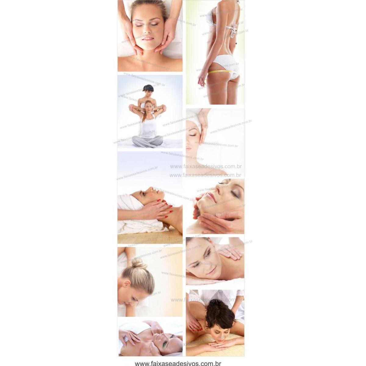 Fotos Decorativas SPA Porta 002 - Escolha o tipo de adesivo - 210x75cm  - Fac Signs