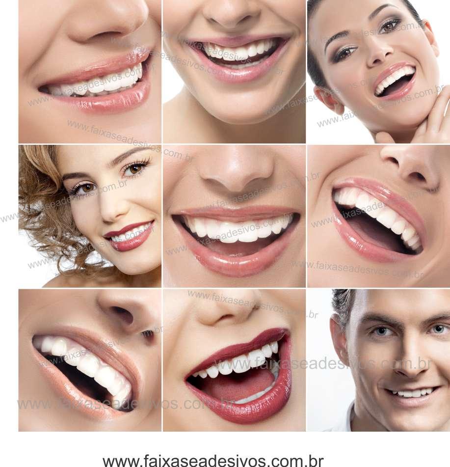 Fotos Decorativas Mosaico Sorriso 012 - Escolha Adesivo ou placa  - FAC Signs Impressão Digital