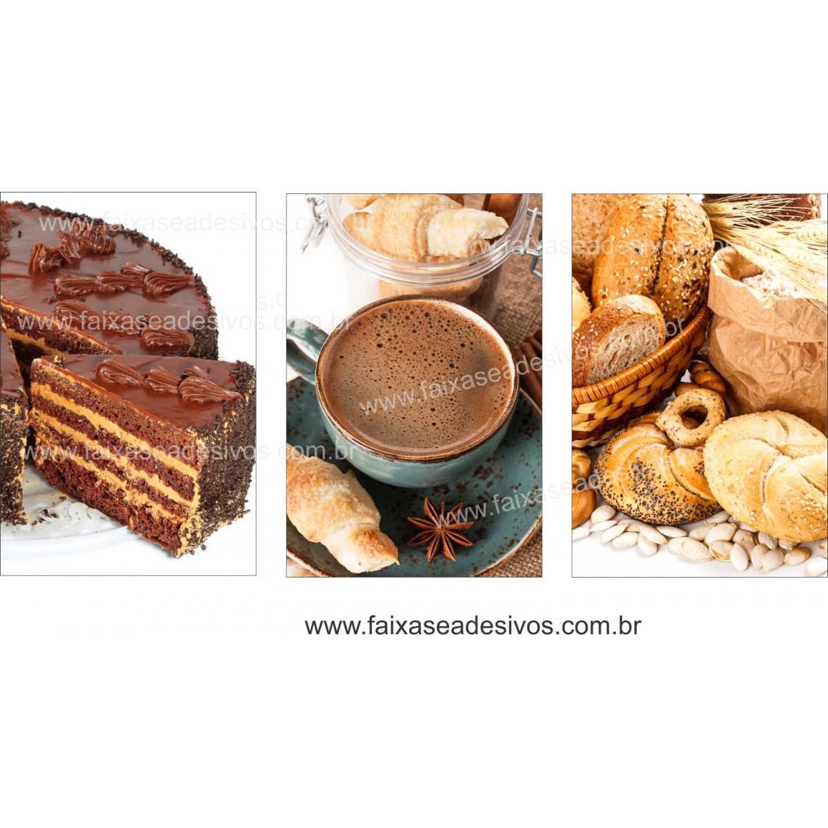 Fotos Decorativas Café 002 - Escolha Adesivo ou placa 60x40 cada - jogo com 3 peças  - Fac Signs