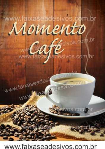 Fotos Decorativas Café 004 - Escolha Adesivo ou placa 50x70cm  - Fac Signs