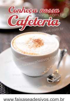 Fotos Decorativas Café 005 - Escolha Adesivo ou placa 60x80cm  - Fac Signs