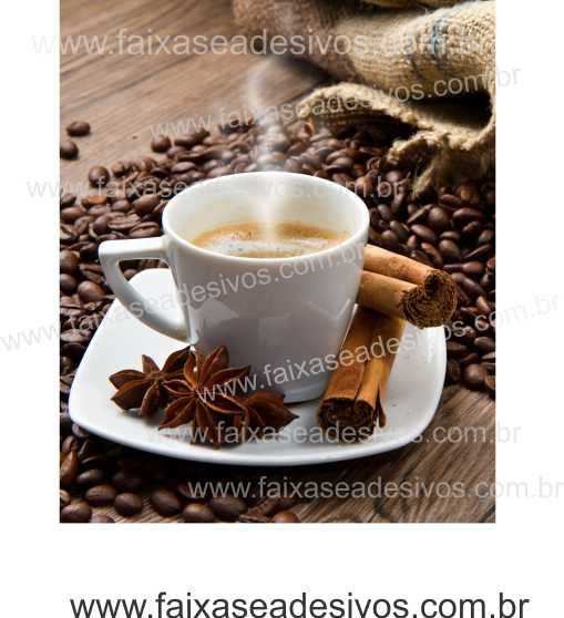 Fotos Decorativas Café 008 - Escolha Adesivo ou placa 50x60cm  - FAC Signs Impressão Digital