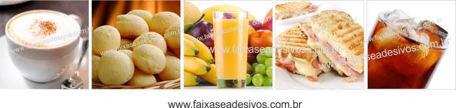 Fotos Decorativas Lanches 008 Mosaico - Adesivo 30x155cm  - Fac Signs