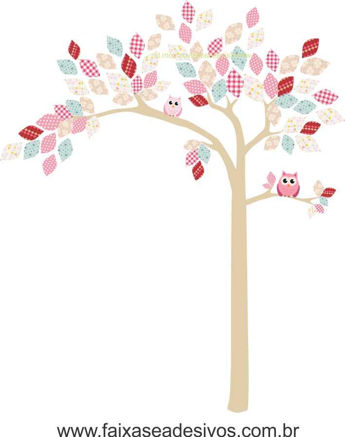 022 - Arvore Adesivo Decorativo Infantil folhas de retalho  - Fac Signs