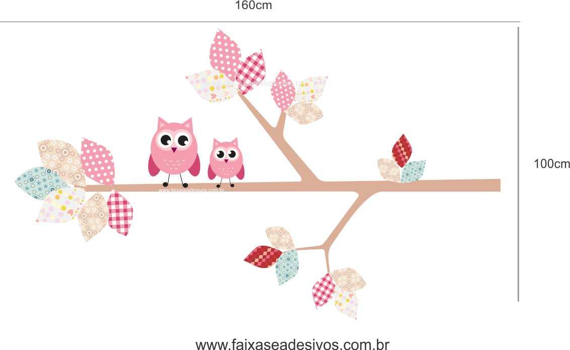 024 - Galho retalhos Adesivo decorativo - Escolha o tamanho  - Fac Signs
