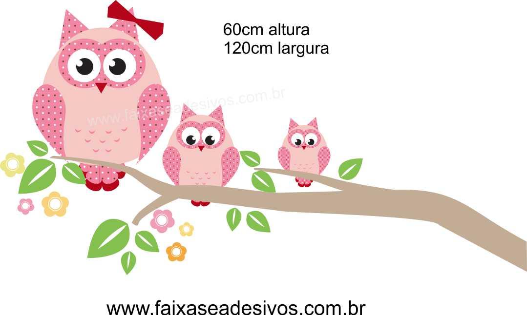 025 - Galho corujinhas quadriculada 60x120cm  - Fac Signs