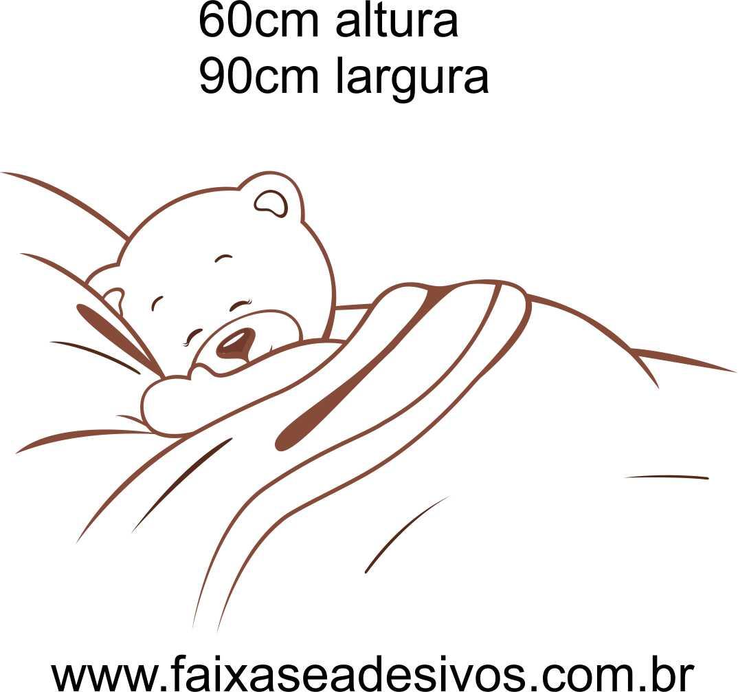 029 - Ursinho adesivo decorativo de parede - Escolha a cor  - Fac Signs