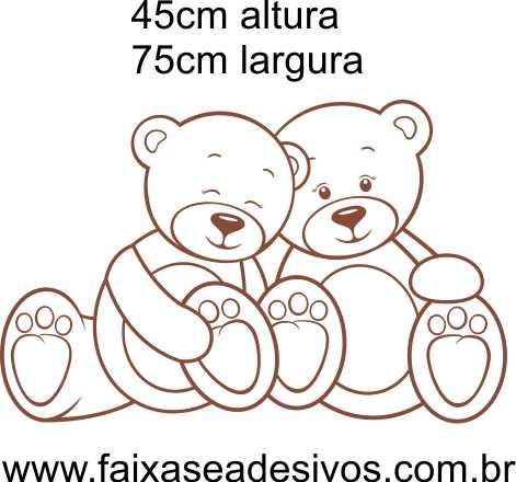 031 - Ursinho Marrom e Branco 45x75cm  - Fac Signs