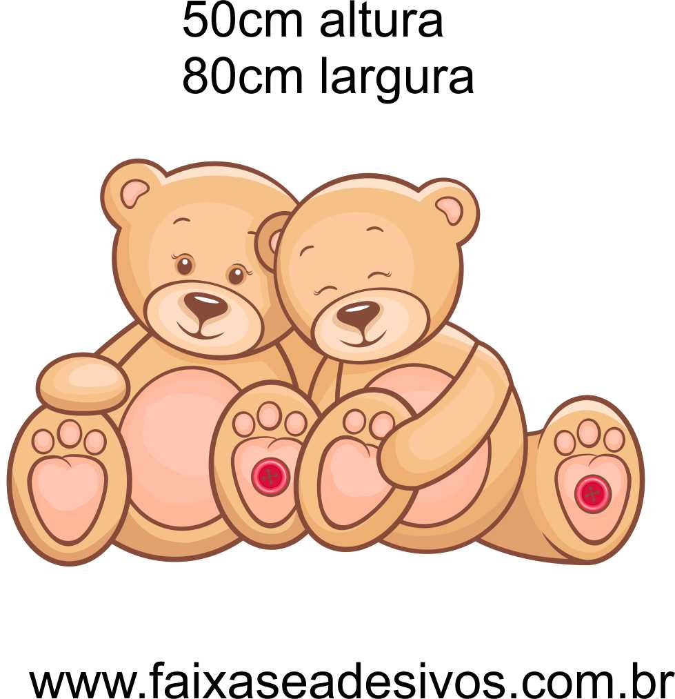 032 - Ursinho colorido adesivo decorativo 50x80cm  - Fac Signs