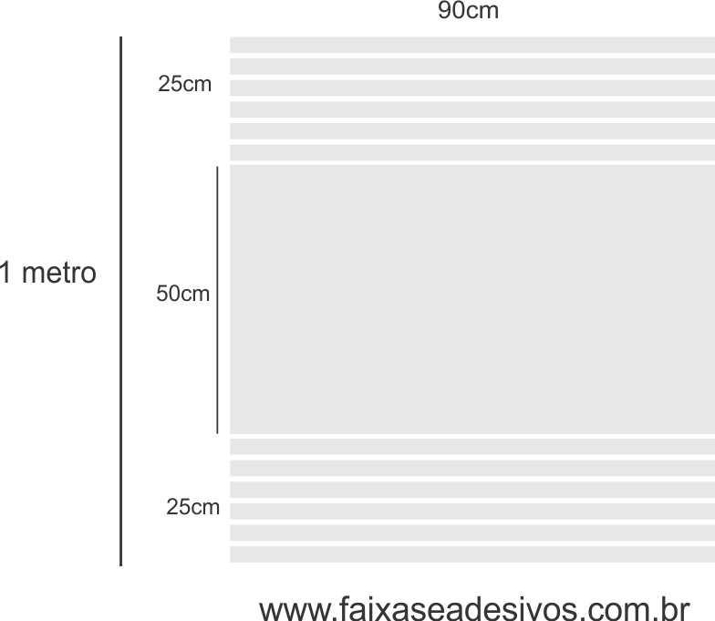199 - Adesivo jateado 95 x 80cm - Parte central inteira com listras laterais  - Fac Signs