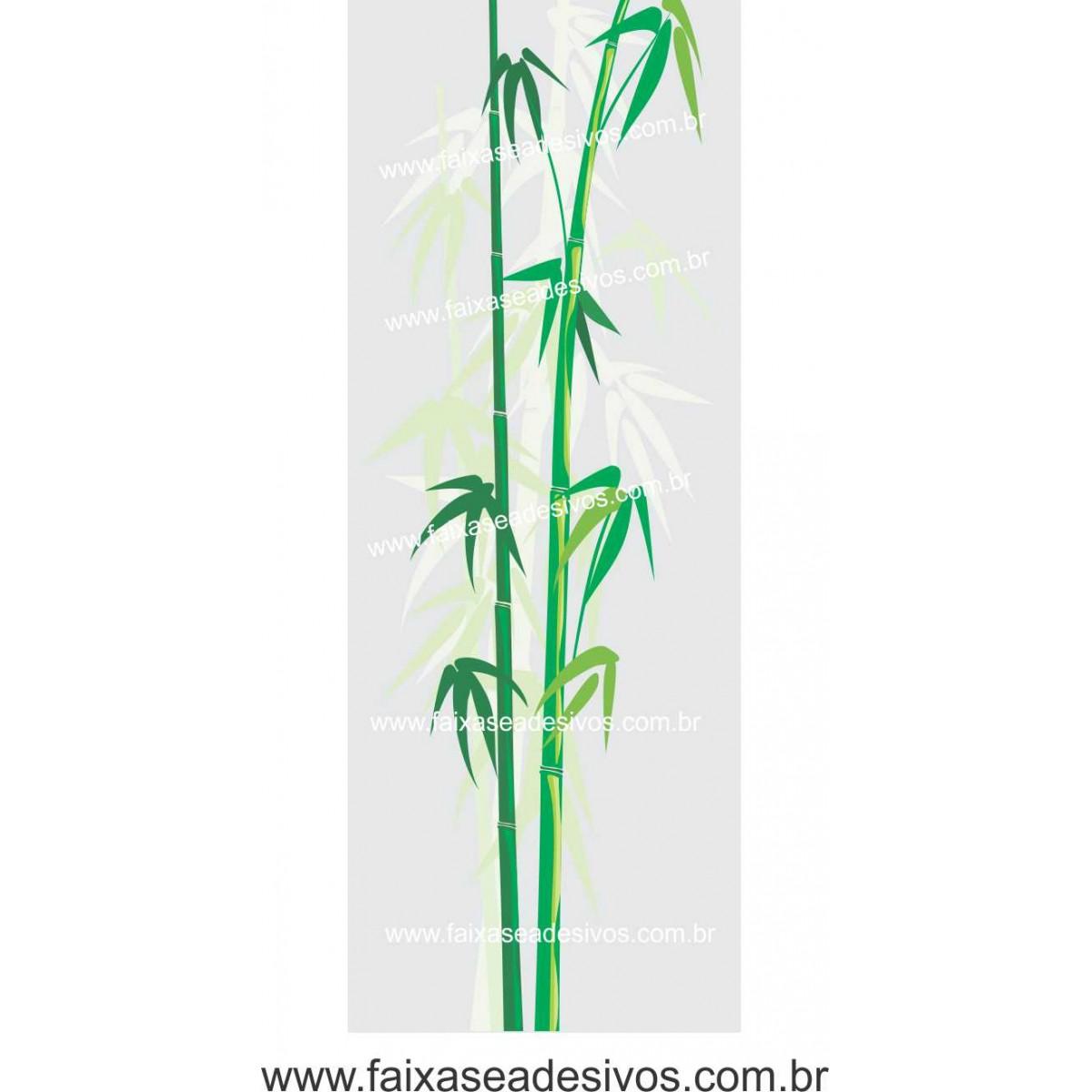096 - Adesivo Jateado para vidro Bamboo 220x70cm  - FAC Signs Impressão Digital