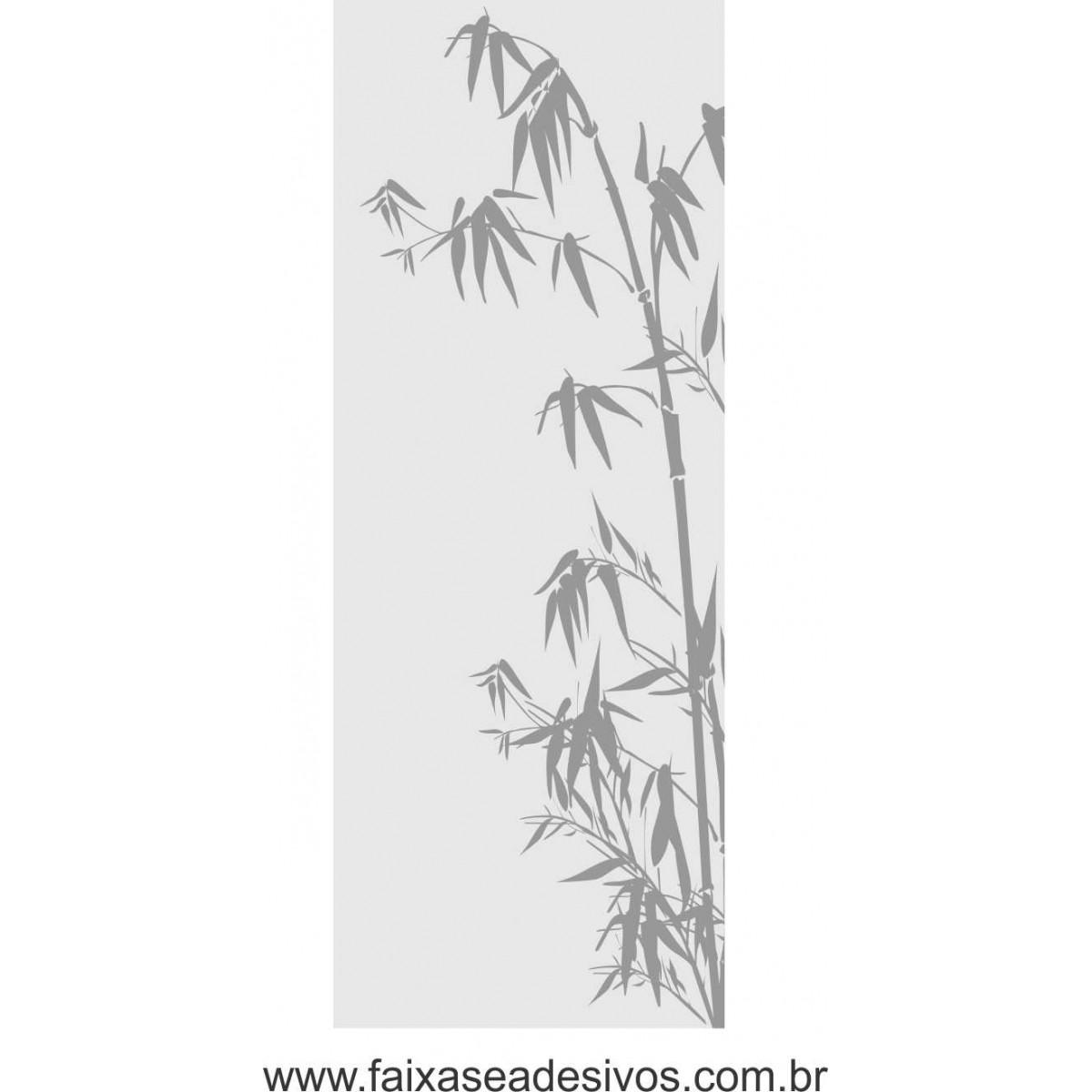 097 VD - Adesivo Jateado para vidro Bamboo 220x70cm  - Fac Signs
