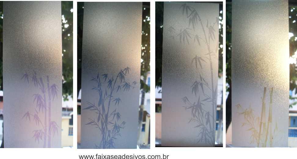 099 VD - Adesivo Jateado para vidro Bamboo 160x70cm  - Fac Signs