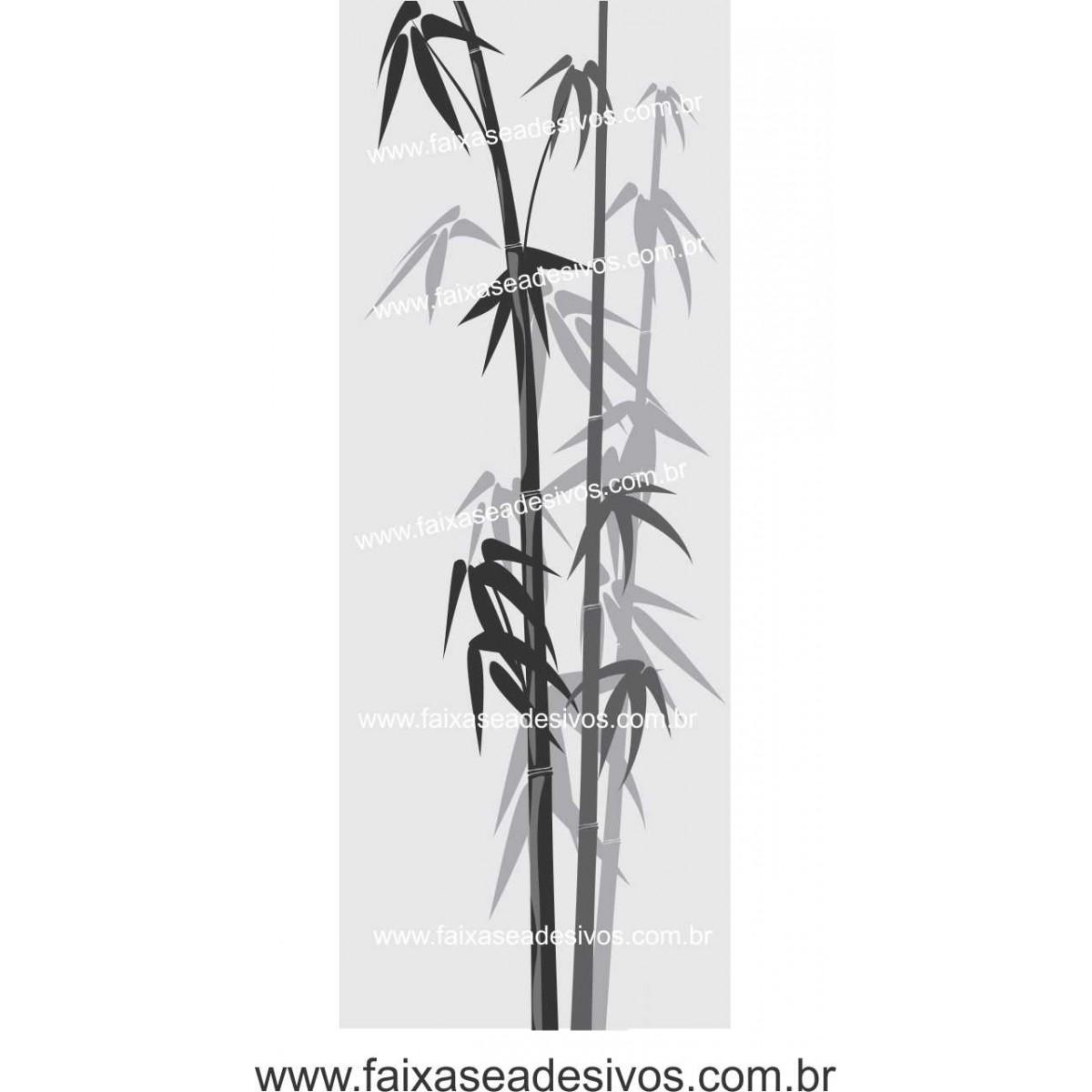 078 VD - Adesivo Jateado para vidro Bamboo 210x70cm  - Fac Signs