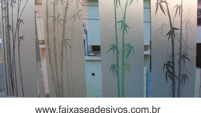 081 VD - Adesivo Jateado para vidro Bamboo 210x70cm  - Fac Signs