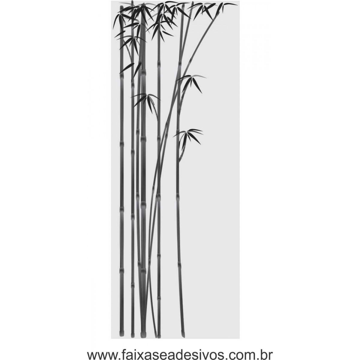 088 VD - Adesivo Jateado para vidro Bamboo 220x70cm  - Fac Signs
