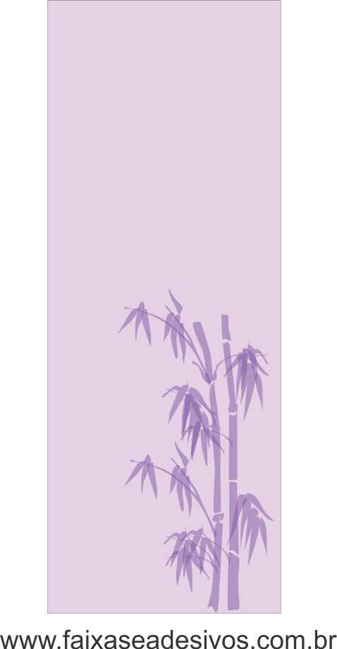 082 VD - Adesivo Jateado para vidro Bamboo 200x70cm  - Fac Signs