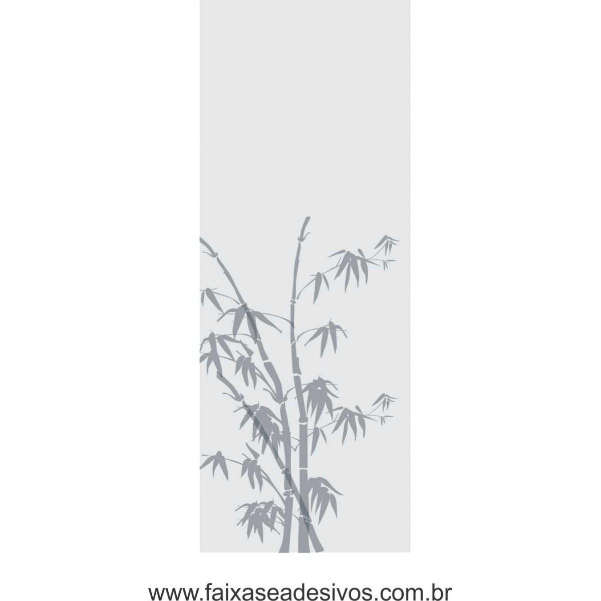 084 VD - Adesivo Jateado para vidro Bamboo 200x70cm  - FAC Signs Impressão Digital