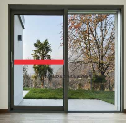 402 - Faixa de segurança para vidro com 10cm - Escolha a cor  - Fac Signs