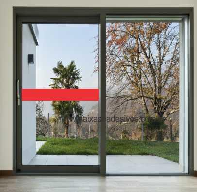 403 - Faixa de segurança para vidro com 15cm - Escolha a cor  - Fac Signs