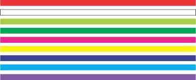 404 - Faixa de segurança para vidro com 20cm - Escolha a cor  - Fac Signs