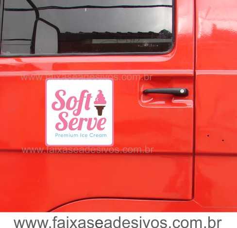 803 - Imã Flexivel para Carro 30x30cm - Envie arte pronta ou solicite a sua!  - Fac Signs