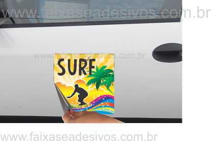 805 - Imã Flexivel para Carro 40x40cm - Envie arte pronta ou solicite a sua!  - Fac Signs