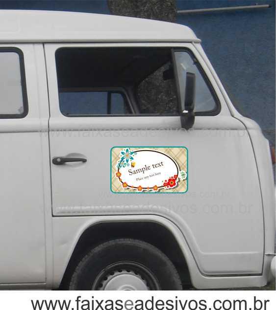 806 - Imã Flexivel para Carro 50x30cm - Envie arte pronta ou solicite a sua!  - Fac Signs