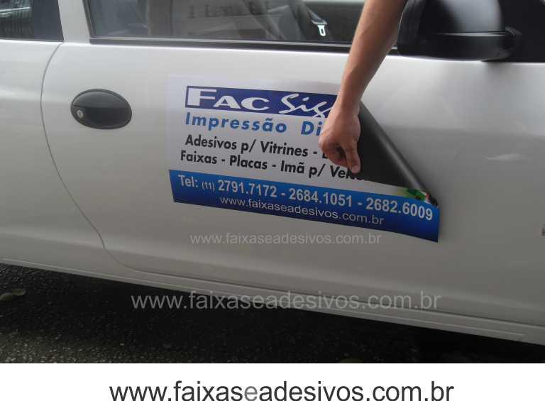 809 - Imã Flexivel para Carro 60x30cm - Envie arte pronta ou solicite a sua!  - Fac Signs