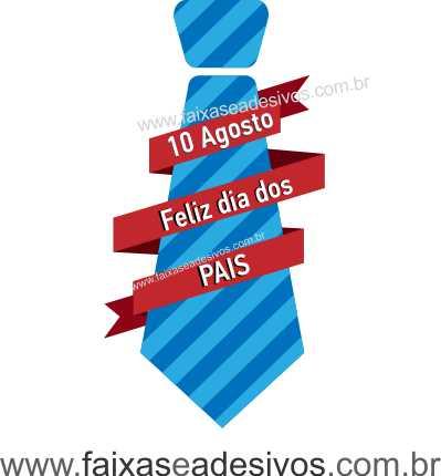 Adesivo Dia dos Pais P200 - Escolha as opções  - FAC Signs Impressão Digital