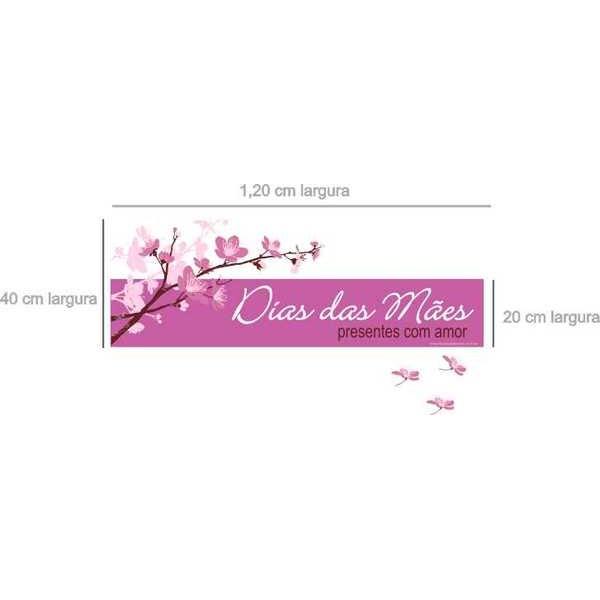 AB207 - Adesivo Mãe Flor de Cerejeira 1,20 x 0,40m  - Fac Signs