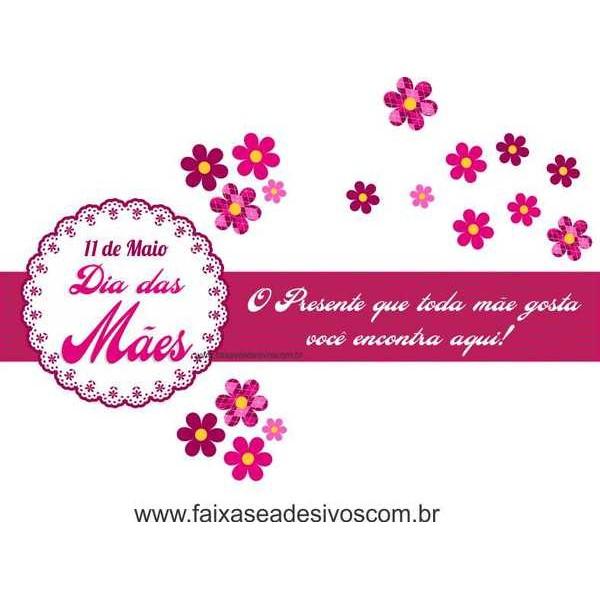 AB204 - Adesivo Dia das Mães Flores!!  - Fac Signs