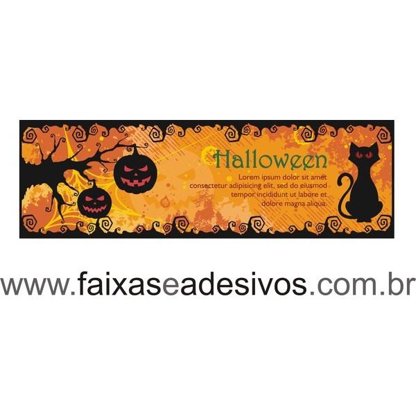 Halloween Lona 150x50 Sem Acabamento  - Fac Signs