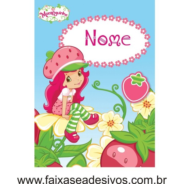 Painel mesa Moranguinho Flor 1,20 x 0,90cm  - FAC Signs Impressão Digital